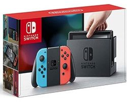 Nintendo Switch Video Game Console with Neon Blue & Red Joy-Con
